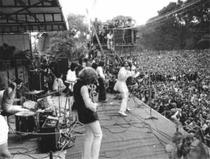 Hyde Park, The Rolling Stones konser anı.